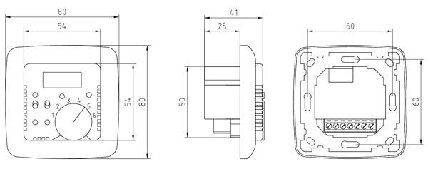 elektronisk rumtermostat med 4m fjernf u00f8ler og digitalt