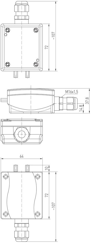 l u00e6kage sensor med rel u00e6 udgang  ip65  elsag dk
