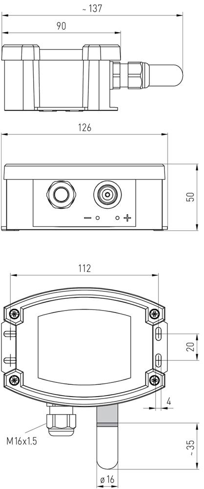 kompakt hygrostat til kanalmontering  kornt u00f8rring  kartoffel t u00f8rring  ventilationsanl u00e6g