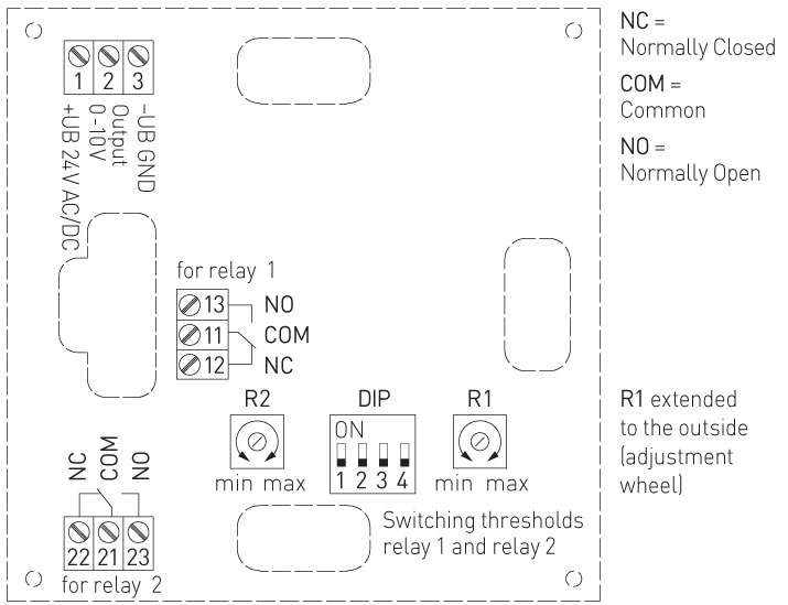 elektronisk hygrostat med display til v u00e6gmontering  2