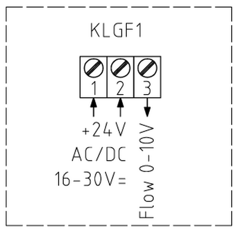 Elektronisk luft flow switch tilslutningsdiagram