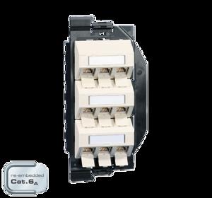 Billede af Netværksudtag til gulvboks GP2 inkl. 9 STK Cat 6A konnektor