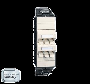 Billede af Netværksudtag til gulvboks GP3 inkl. 6 STK Cat 6A konnektor