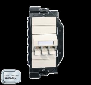 Billede af Netværksudtag til gulvboks GP2 inkl. 3 STK Cat 6A konnektor