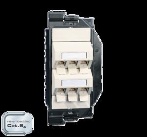 Billede af Netværksudtag til gulvboks GP2 inkl. 6 STK Cat 6A konnektor