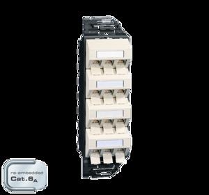 Billede af Netværksudtag til gulvboks GP3 inkl. 12 STK Cat 6A konnektor