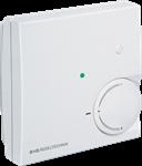 Billede af Rumtemperaturføler NTC 10k Precon, passiv potentiometer, grøn LED og trykknap/taster - IP30