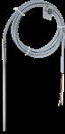 Billede af NTC 50k temperaturføler med sensorrør ø6x200mm samt 1,5m PVC kabel. Måleområde: -35 ...+105 °C