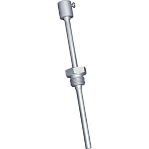 Billede af Rustfri stål dykrør | følerlomme med  90mm halsrør | længde 100mm. Passer til føler TF43, TF65, TM43 og TM65.
