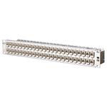 """Billede af CAT6a 500 Mhz Rustfri Patchpanel / Krydsfelt med 48 x Modul konnektor 180° 1,5HE / 19"""""""