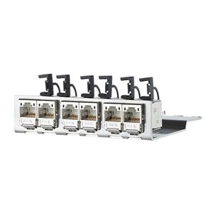 Billede af CAT6a 500 Mhz Aluminium modulholder lodret 6x Modul konnektor 180° 3HE
