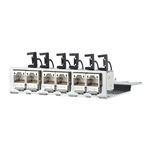 Billede af CAT6a 500 Mhz Rustfri modulholder 6x Modul konnektor 180° 1HE