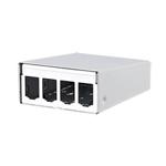 Billede af Hvid 4 Port vægboks til modul konnektor.