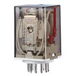 Billede af Stikbensrelæ, 3 omskifter og LED. Spolespænding 24V/AC.