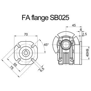 Billede af FA flange til snekkegear SB025 udgangsside D=75mm