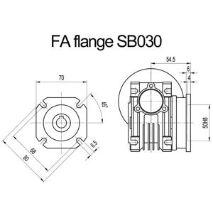Billede af FA flange til snekkegear SB030 udgangsside D=80mm