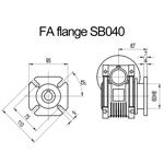 Billede af FA flange til snekkegear SB040 udgangsside D=110mm