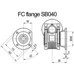 Billede af FC flange til snekkegear SB040 udgangsside D=140mm