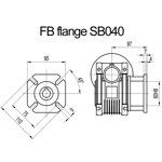 Billede af FB flange til snekkegear SB040 udgangsside D=110mm