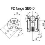 Billede af FD flange til snekkegear SB040 udgangsside D=120mm