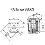 Billede af FA flange til snekkegear SB063 udgangsside D=180mm