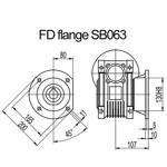 Billede af FD flange til snekkegear SB063 udgangsside D=200mm