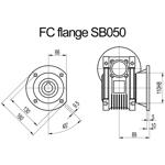 Billede af FC flange til snekkegear SB050 udgangsside D=160mm