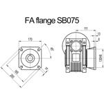 Billede af FA flange til snekkegear SB075 udgangsside D=200mm