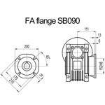 Billede af FA flange til snekkegear SB090 udgangsside D=210mm