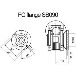 Billede af FC flange til snekkegear SB090 udgangsside D=200mm