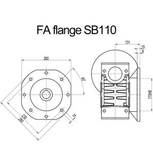 Billede af FA flange til snekkegear SB110 udgangsside D=280mm
