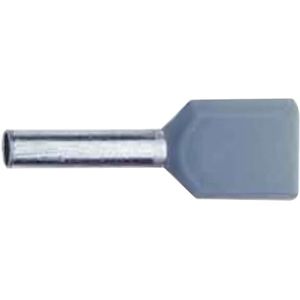 Billede af Terminalrør 2x4mm² grå dobbelt