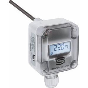 Billede af 0-10V Temperaturføler med display til montering i kanal eller dykrør | 8 omskiftelige måleområder -50...+150°C | længde 100mm