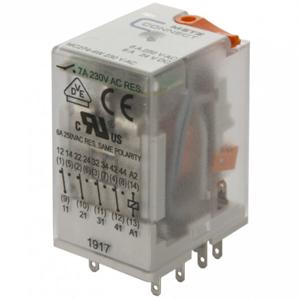 Billede af Stikbens relæ 230V/AC, 4 omskifter og LED