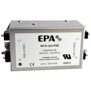 Billede af EMC | RFI filter 1 faset 230V, 6Amp. Type NF-6-1ph-FSE
