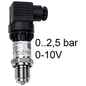 Billede af Tryktransmitter | 0-2,5 bar | 0-10V | Stål målecelle