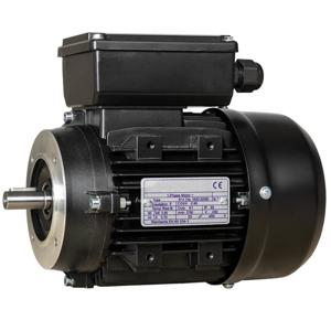 Billede af Elmotor 2800 rpm, lavt startmoment 0,37kW   0,5hk, B14 lille flange, 1 faset 230V