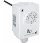 Billede af Dykrørs termostat, 200mm rustfri dykrør. Måleområde 0...+90°C IP65.