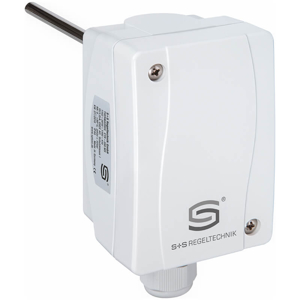 Billede af Dykrørs termostat, 200mm rustfri dykrør. Med indvendig indstilling. Måleområde 0...+90°C IP65.