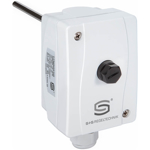 """Billede af Dykrørs termostat """"STB"""" sikkerhedstemperaturbegrænser, 150mm rustfri dykrør. Måleområde +90...+110°C IP65."""