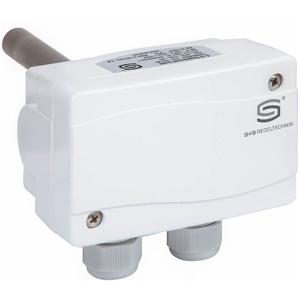 """Billede af Dobbelt dykrørs termostat """"TW+TW"""", 150mm rustfri dykrør. Med indvendig indstilling. Måleområde 0...+90°C IP65."""