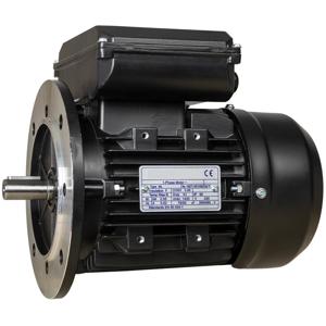 Billede af Elmotor 2800 rpm, lavt startmoment 0,75kW | 1hk, B5 stor flange, 1 faset 230V