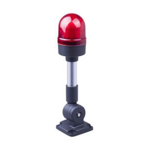 Billede af Lystårn rød lampe og sirene 230V/AC | justerbar fod