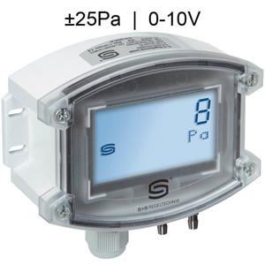 Billede af Differenstryktransmitter til renrum med display | Maks. måleområde ±25 Pa | 0-10V udgangssignal
