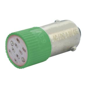 Billede af Grøn BA9s LED 130V AC/DC