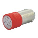 Billede af Rød BA9s LED 130V AC/DC
