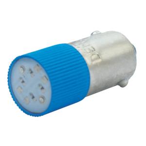 Billede af Blå BA9s LED 130V AC/DC
