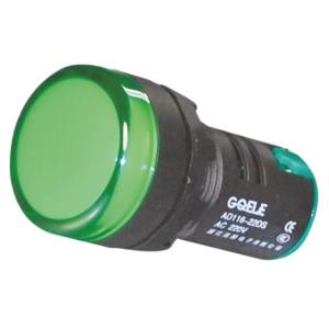 Billede af Grøn signallampe med LED 230V AC til indbygning