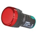 Billede af Rød signallampe med LED 230V AC til indbygning