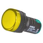 Billede af Gul signallampe med LED 230V AC til indbygning